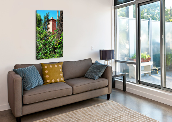 TOWER AT JARDIN MAJORELLE MARRAKECH DOROTHY BERRY-LOUND  Canvas Print