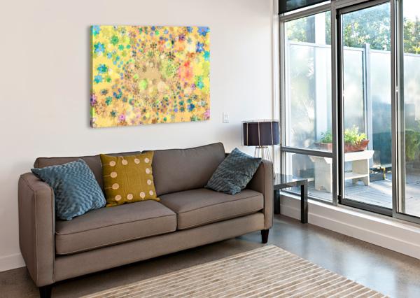 FLOWERS COLOR COLORFUL WATERCOLOUR SHAMUDY  Canvas Print