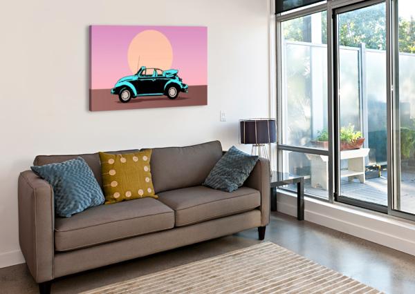 CAR POSTER RETRO VINTAGE LANDSCAPE SHAMUDY  Canvas Print