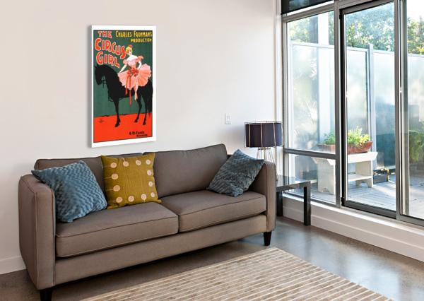 THE CIRCUS GIRL VINTAGE POSTER GIRL SHAMUDY  Canvas Print