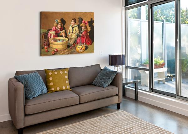 HALLOWEEN VINTAGE KIDS CARD HAPPY SHAMUDY  Canvas Print
