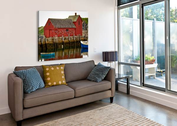 MOTIF NUMBER 1 - ROCKPORT MA DAVE THERRIEN  Canvas Print