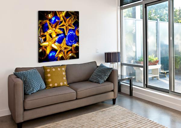 BLUE AND GOLD PLASTIC JEWELS RICHARD KROL  Canvas Print