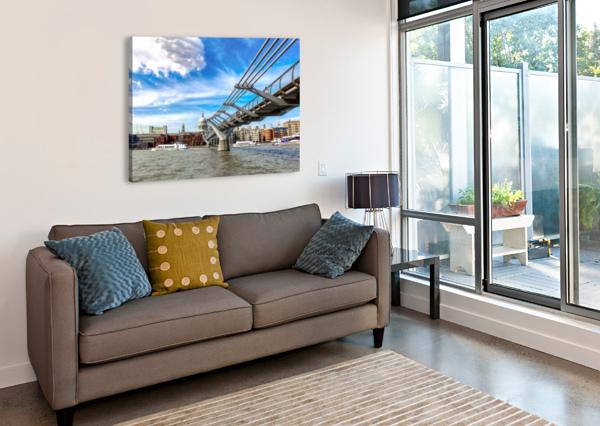 LANDSCAPE - LONDON SKYLINE - ST PAULS CATHEDRAL BENTIVOGLIO PHOTOGRAPHY  Canvas Print
