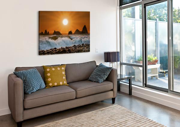 SUNSET AT RIALTO BEACH JAMES RADFORD  Canvas Print