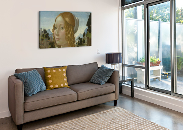 PORTRAIT OF A LADY DOMENICO GHIRLANDAIO  Canvas Print