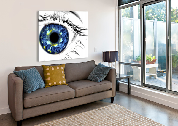 EYE ART 1 RICHARD KROL  Canvas Print