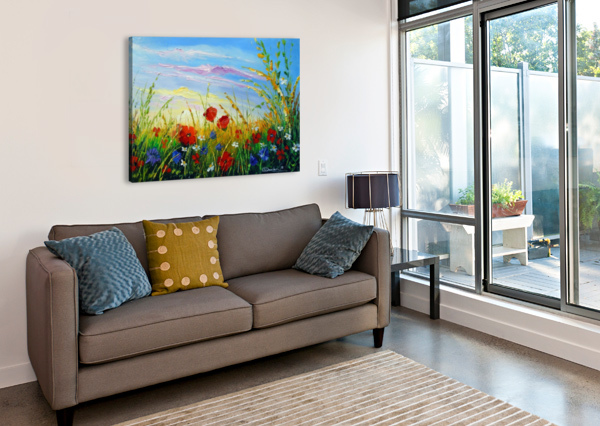 SUMMER FLOWERS IN THE OIL PAINTING FIELD OLHA DARCHUK   Canvas Print
