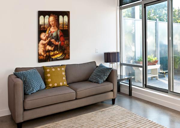 LEONARDO DA VINCI. THE MADONNA OF THE CARNATION HD 300PPI STOCK PHOTOGRAPHY  Canvas Print