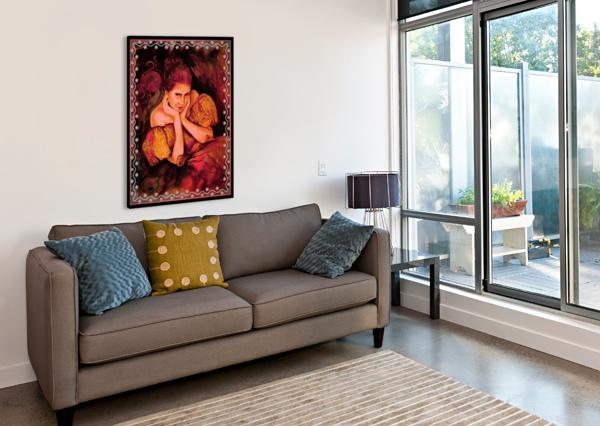FLIRTY GIRL   GLORIA NOVA  Canvas Print