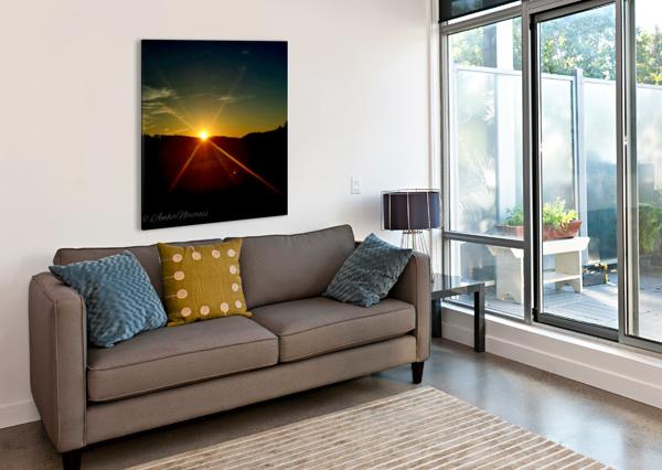 GLINTING HORIZON AMBER NORCROSS  Canvas Print