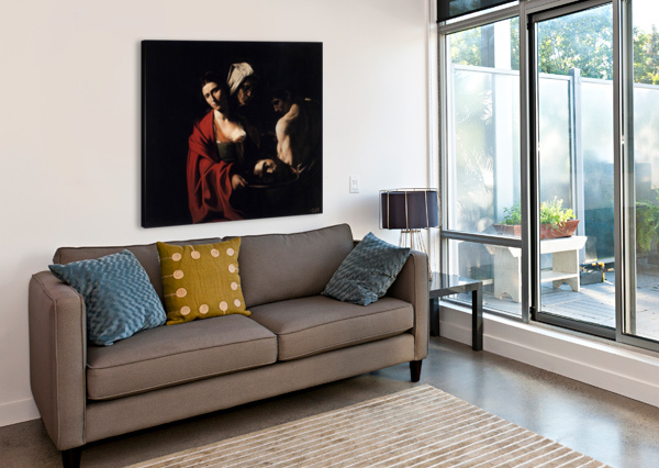 SALOME WITH THE HEAD OF THE BAPTIST CARAVAGGIO  Canvas Print