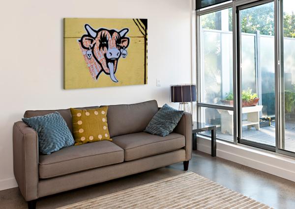 DEMON LAUGHING COW TONY FORCUCCI  Canvas Print