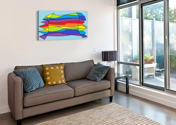 WAVES MILDMINDSTUDIO  Canvas Print