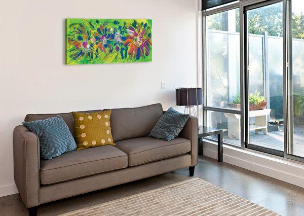 ABSTRACT MULTICOLORED FLOWERS BBS ART  Canvas Print