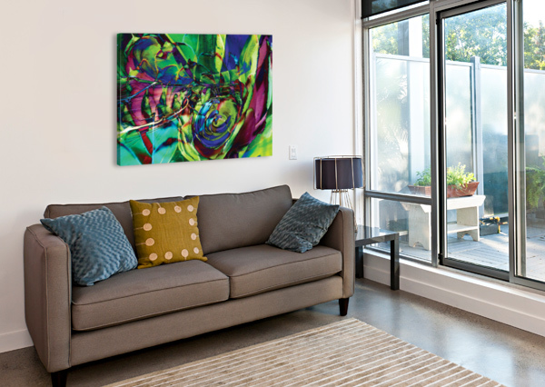 SWIRLING ABSTRACT SHAPES  BBS ART  Canvas Print