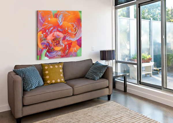 FLORAL SWIRLING BBS ART  Canvas Print