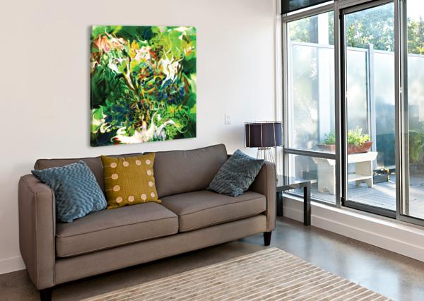 GREEN FLUID ABSTRACT BBS ART  Canvas Print