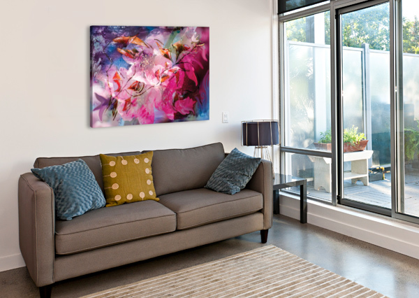FLORAL CREATION ABSTRACTION BBS ART  Canvas Print