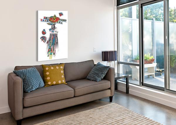 HERERO WOMAN 7 MARIE-DENISE DOUYON  Impression sur toile