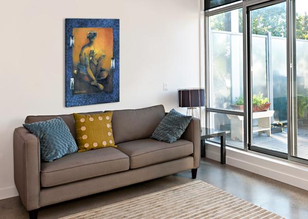 HOMME ACCROUPI MARIE-DENISE DOUYON  Impression sur toile