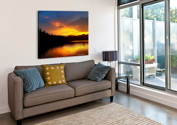 FIREY SUNSET AMBER NORCROSS  Canvas Print