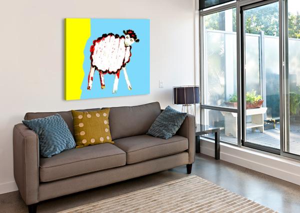 LITTLE AUSSIE SHEEP - BLUE LEXA HARPELL  Canvas Print