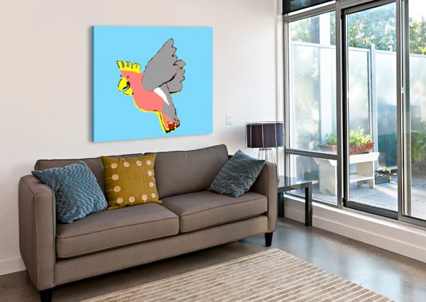 LAUGHING GALAH - BLUE LEXA HARPELL  Canvas Print