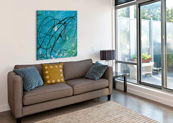 LIGHT BLUE ABSTRACT BBS ART  Canvas Print
