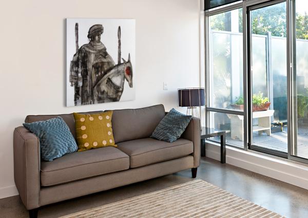 SHADOW HORSERIDER 5 MARIE-DENISE DOUYON  Canvas Print