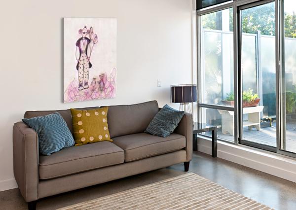 CLOWN ET CHATS BIJI SYLVIE FAUCHER  Canvas Print