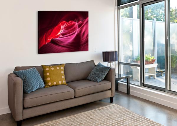 PURPLE WAVE JONGAS PHOTO  Canvas Print