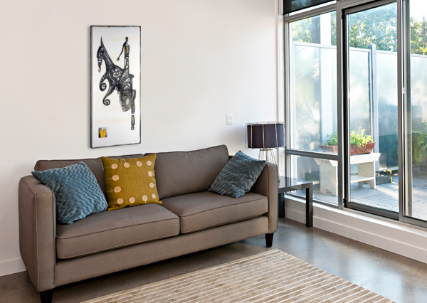 MOSTLY BLACK WHITE 5 MARIE-DENISE DOUYON  Canvas Print