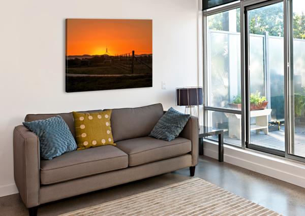 GOLDEN SUNSET ANN SKROBOT  Canvas Print