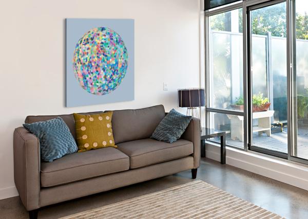 RONDI PASTEL LIGHT BLUE BACKGROUND CELINE CIMON  Canvas Print