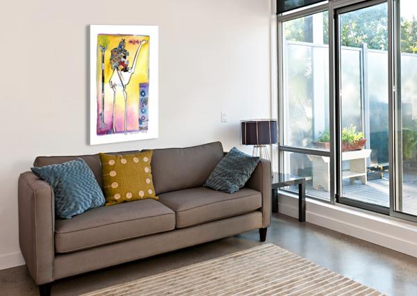 KOLLAGE KAMEL MARIE-DENISE DOUYON  Canvas Print