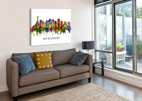RIO DE JANEIRO BRAZIL SKYLINE TOWSEEF DAR  Canvas Print