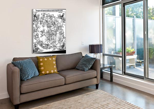 STAR MAP ALBRECHT DURER  Canvas Print