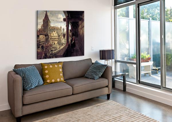 ALBRECHT DüRER ON THE BALCONY OF HIS HOUSE ALBRECHT DURER  Canvas Print