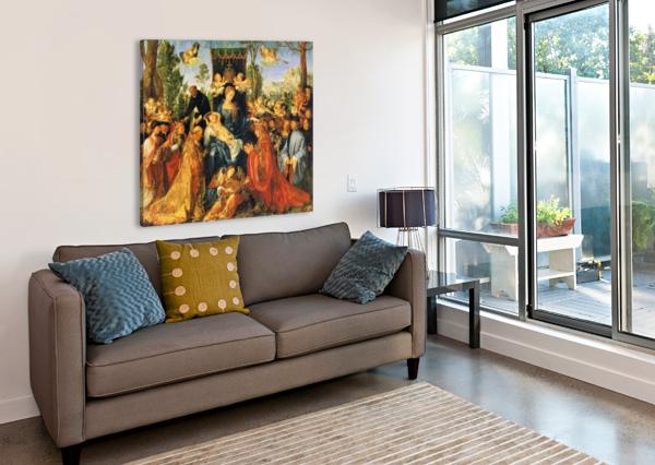 FEAST OF THE ROSE GARLANDS ALBRECHT DURER  Canvas Print