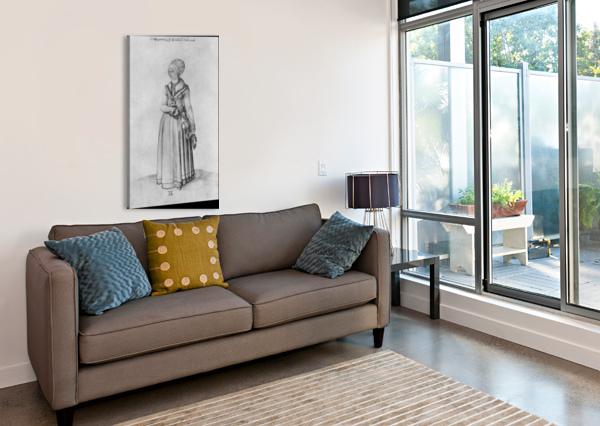 NUREMBERG WOMAN IN HOUSE DRESS ALBRECHT DURER  Canvas Print