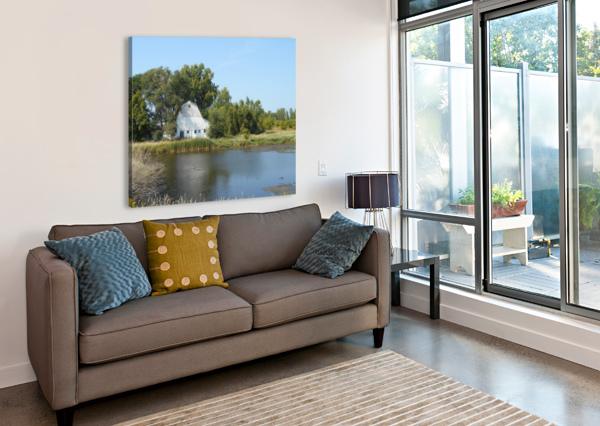 PEACEFUL POND CASTLE GREEN ENTERPRISES  Canvas Print