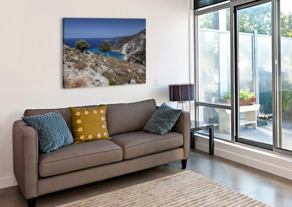 THE GREEK ISLAND OF KEFALONIA LEIGHTON COLLINS  Canvas Print