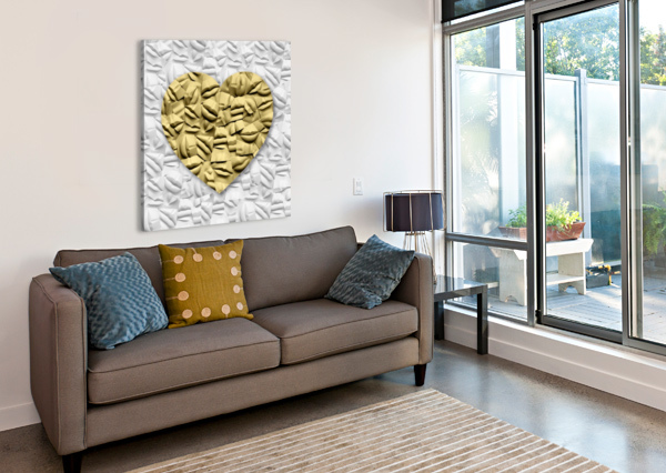HEART OF GOLD CELINE CIMON  Canvas Print