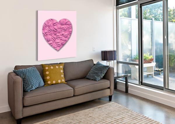 HEART OF PINK CELINE CIMON  Canvas Print