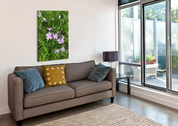 PURPLE WILD FLOWERS KATE JAXXON  Canvas Print