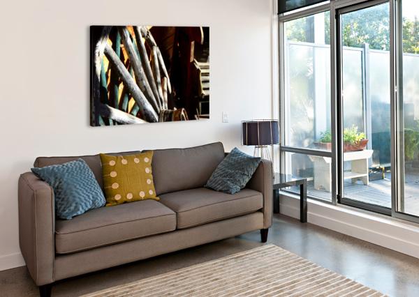 WAGON WHEELS.04 ALEXIS PATTEN  Canvas Print