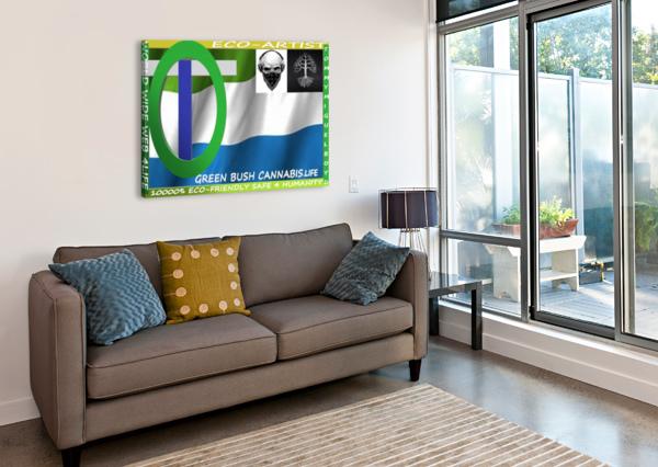 GREEN BUSH CANNABIS. LIFE KING THOMAS MIGUEL BOYD  Canvas Print