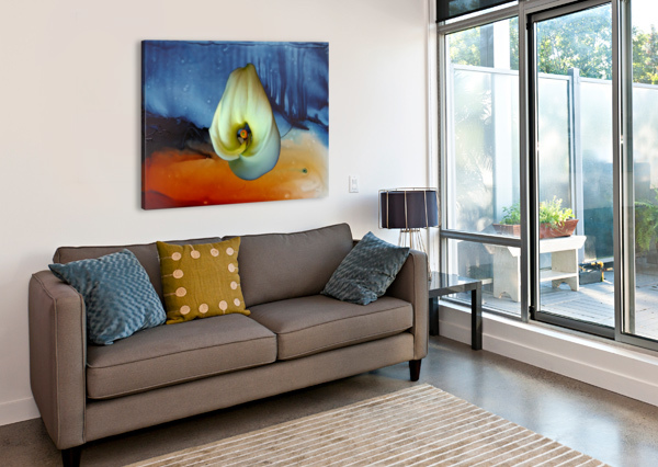 ALCOHOL INK AND LILY I DONNA STARES   Canvas Print