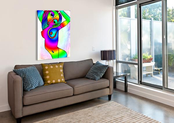 EL CAMINO RAINBOW BRATTY ART  Canvas Print